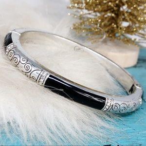 Brighton Wiltern Black Silver Crystal Bracelet